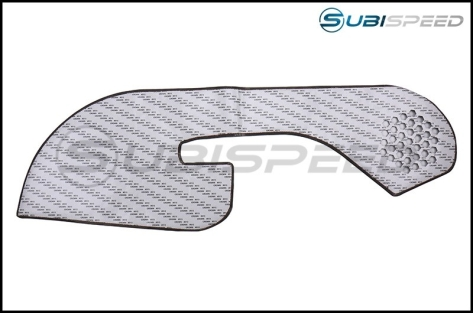 OLM Leather Look Kick Guard Protection Set with Red Stitching (Non HK Equipped) - 2015+ WRX / 2015+ STI