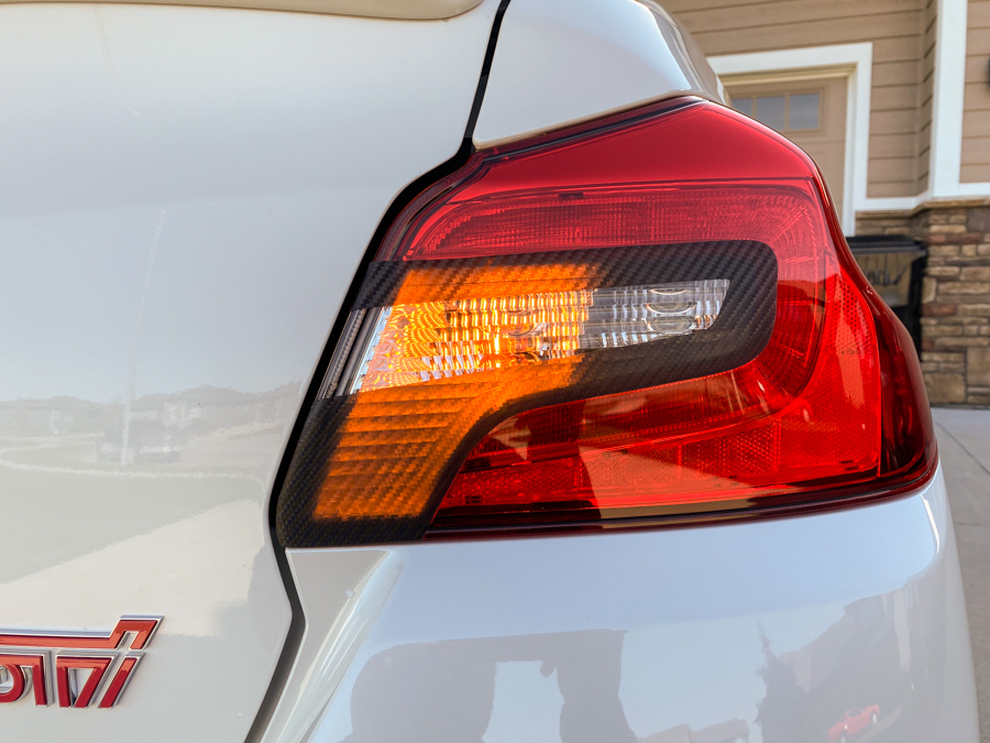Sticker Fab Special Edition Dark Smoke Carbon Fiber C-Cut Tail Light Overlays