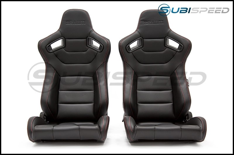 Braum Elite Series Racing Seats (Red Stitching)
