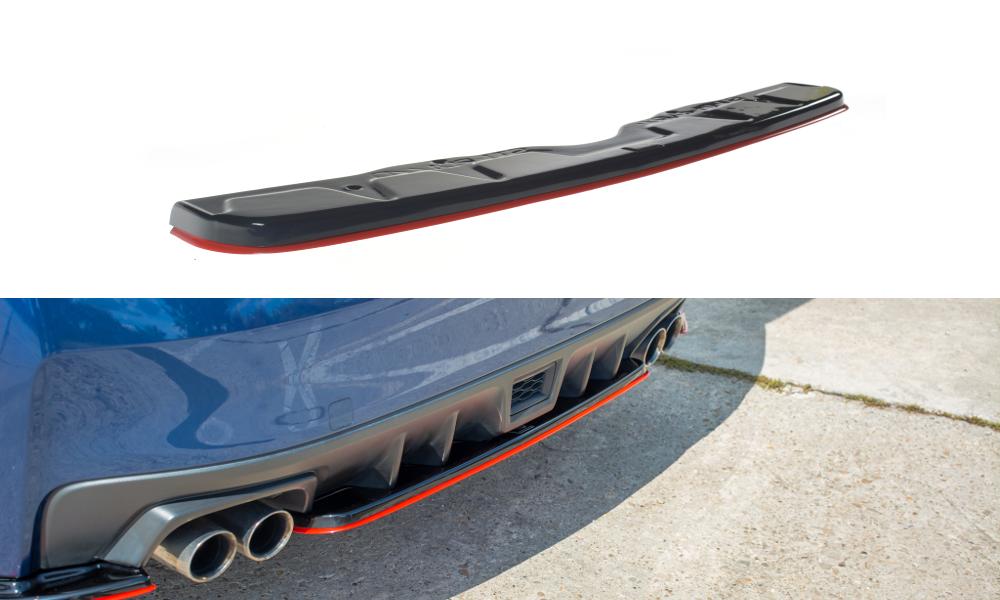 Maxton Design Redline Gloss Black Rear Diffuser