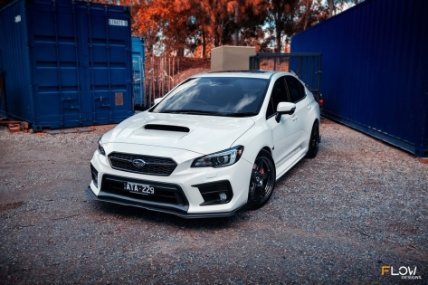 Flow Designs Front Splitter V2 - 2015+ WRX / 2015+ STI