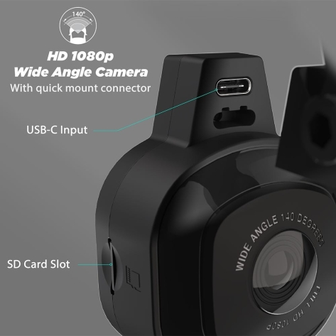 Scosche Nexar Dash Cam Window 32 GB Suction Window Mount - Universal