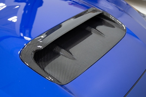 OLM A1 Aggressive Carbon Fiber Full Replacement Hood Scoop - 2015+ WRX / 2015+ STI