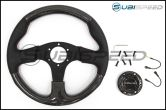 NRG 315mm Carbon Fiber Steering Wheel With Red Stitching - Universal