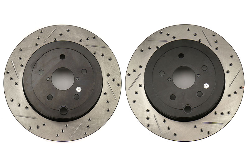 Stoptech Drilled and Slotted Rotor Pair Rear