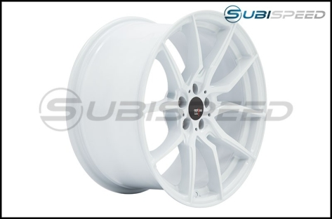 Option Lab R716 18x8.5 +35 Onyx White Wheels - 2015+ WRX / 2015+ STI