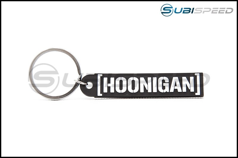 HOONIGAN Censor Bar Rubber Key Chain Black / White