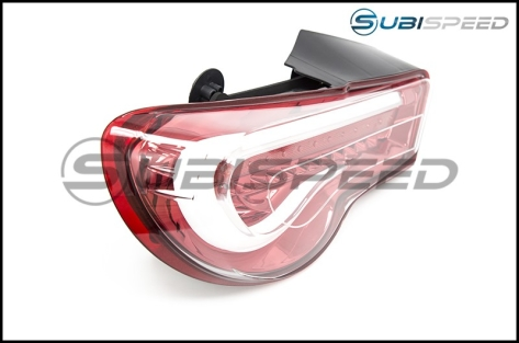 OLM VL Style / Helix Sequential Clear Lens Tail Lights (Clear Lens, Red Base) - 2013+ FR-S / BRZ
