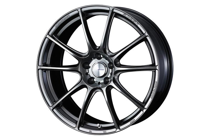 WedsSport SA-25R 19x8.5 +38 Platinum Silver Black - 2015-2021 Subaru WRX & STI