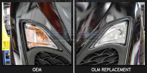 OLM Switchback Amber / White Turn Signal and Parking Light Bulb