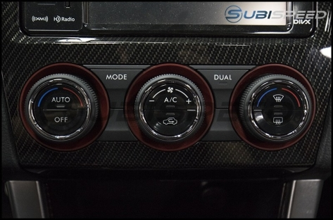 Subaru Matte Black AC Knob Full Replacement - 2015+ WRX / 2015+ STI / 2014+ Forester / 2013+ Crosstrek