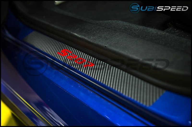 S207 Design 3D Carbon Fiber Door Sill Overlays