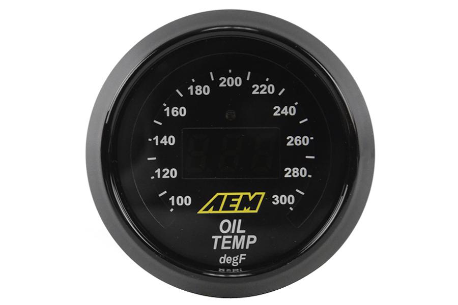 AEM Oil/Transmission/Coolant Temperature Gauge Digital 52mm Universal
