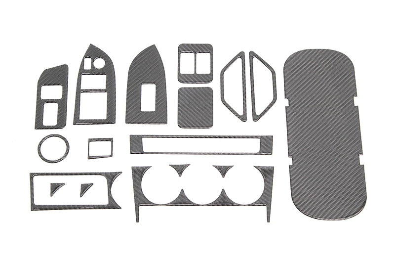 OLM Carbon Fiber Interior Dress Up Kit (17pc) Limited RHD ONLY