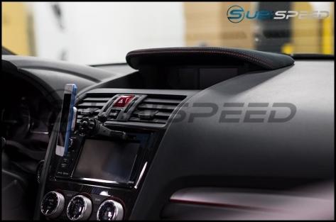 Shining Speed Alcantara Console Hood Cover (MFD) w/ Red Stitching - 2015+ WRX / 2015+ STI