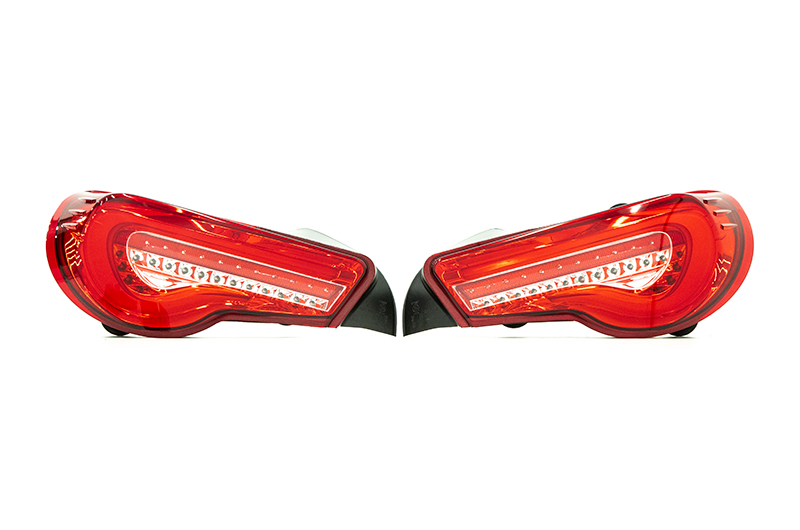 Valenti Jewel LED Tail Light Half Red Lens Chrome Inner Reflector