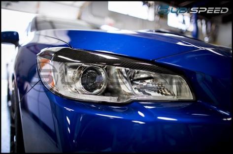 OLM S-line Carbon Fiber Headlight Eyelids - 2015+ WRX / 2015+ STI