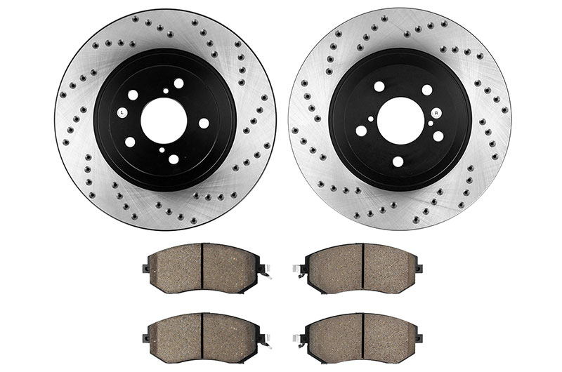 Stoptech Street Axle Pack Drilled Front