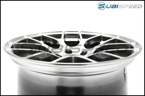 Enkei Raijin Hyper Silver Wheels 18x8.5 +35mm - 2015+ WRX / 2015+ STI