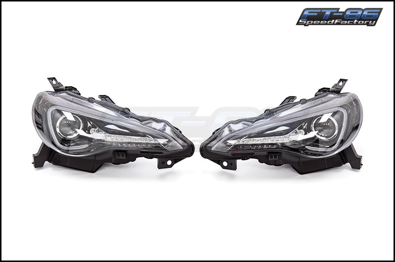 Spec-D Sequential Signal Projector Headlights Glossy Black