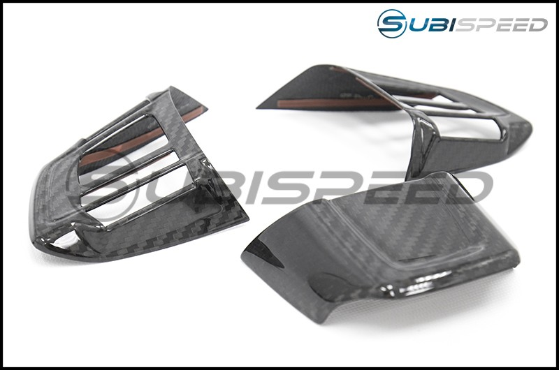 OLM LE Dry Carbon Fiber Steering Wheel Covers (Type 2)