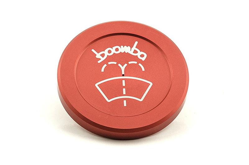 Boomba Racing Windshield Washer Cap Red Subaru WRX 2015+