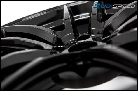 Wedssport RN55M 18x9.5 +38mm Gloss Black - 2015+ WRX / 2015+ STI