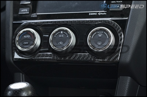 GCS Carbon AC Knob Accent Trim - 2015+ WRX