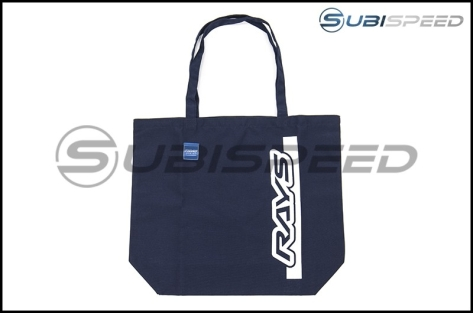 Rays Large Navy Tote Bag