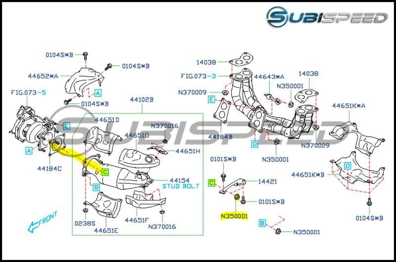 Subaru OEM Turbo to J Pipe Self Locking Nut