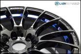 WedsSport SA-72R Blue Light Chrome 18x9.5 +38 R Face - 2015+ WRX / 2015+ STI