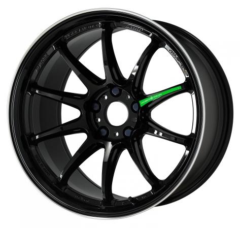 Work Wheels Emotion ZR10 18x8.5 +38 Black Diamond Lip Cut (BLKLC)