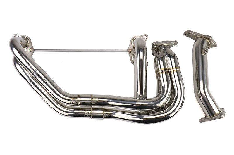 Tomioka Racing Subaru Single Scroll Unequal Length Exhaust Manifold with 3 bolts Up-pipe