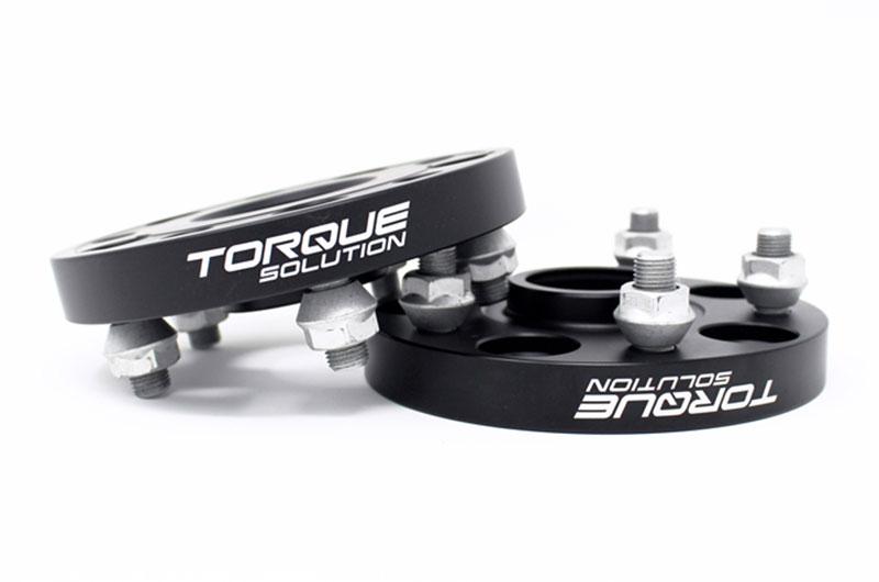 Torque Solution Forged Aluminum Wheel Spacer 5x114.3 20mm Black Pair