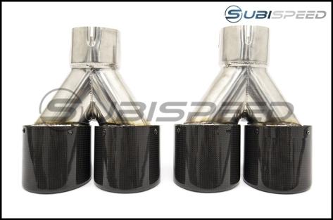 Subispeed Axle Back / Muffler Delete Exhaust System - 2015+ WRX / 2015+ STI