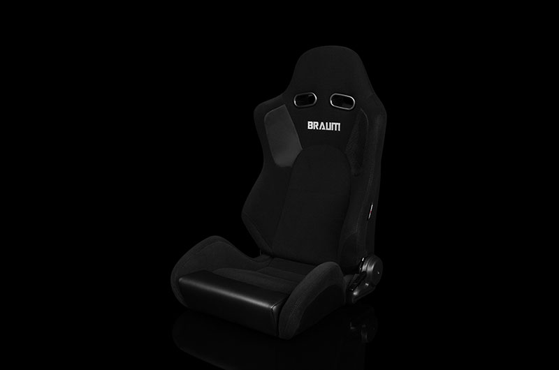Braum Advan Series Sport Seats - Black Cloth Pair