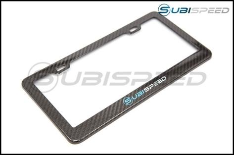 SubiSpeed Carbon Fiber License Plate Frame - Universal
