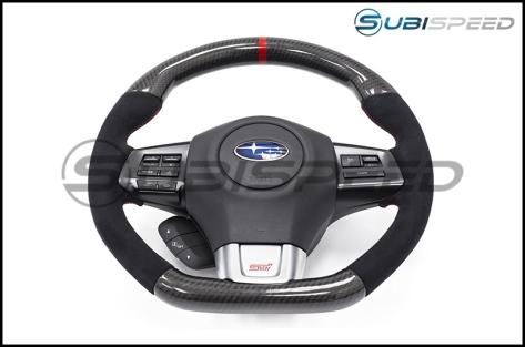 SubiSpeed CP Style Carbon Fiber / Alcantara Steering Wheel - 2015+ WRX / 2015+ STI