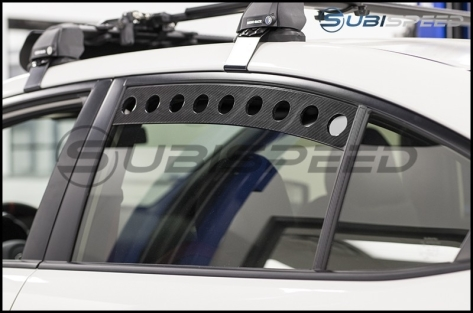 Rexpeed Carbon Fiber Rear Window Louvers - 2015+ WRX / 2015+ STI