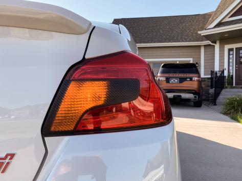 Sticker Fab Special Edition Dark Smoked Carbon Tail Light Tint - 2015-2020 WRX / 2015-2020 STI