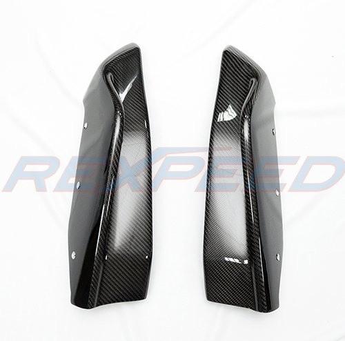 Rexpeed Carbon Fiber Rear Bumper Extensions (STI Style)