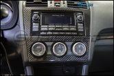 OLM S-Line Dry Carbon Fiber Radio and AC Control Cover - 2015 Subaru WRX & STI / 2014-2015 Forester / 2013-2014 Crosstrek