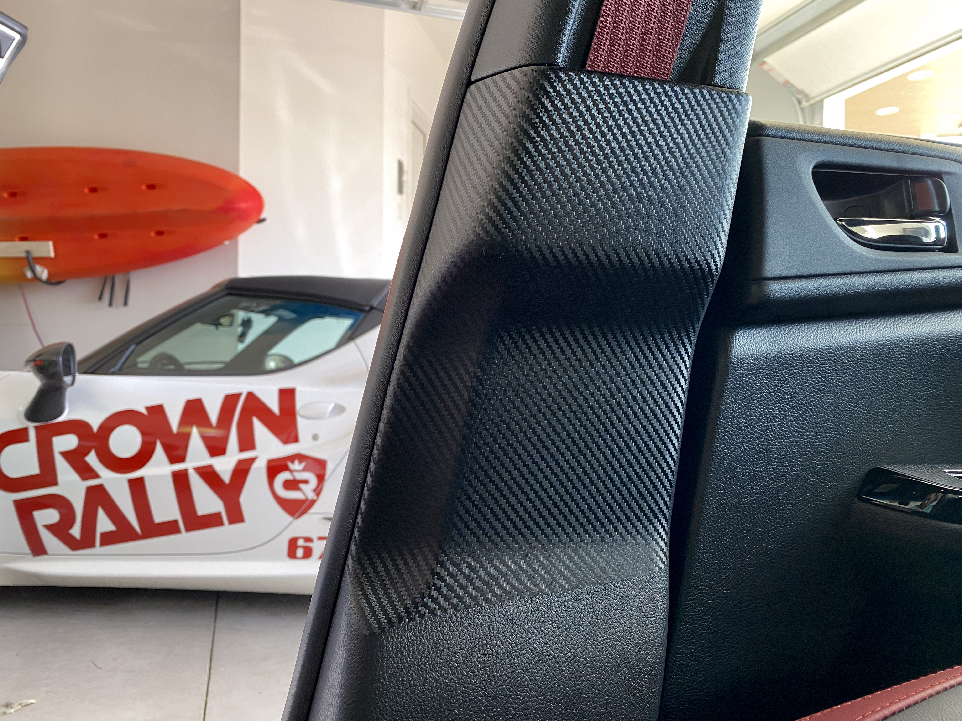 Sticker Fab 3D Carbon Seatbelt / Pillar Panel Protection Kit