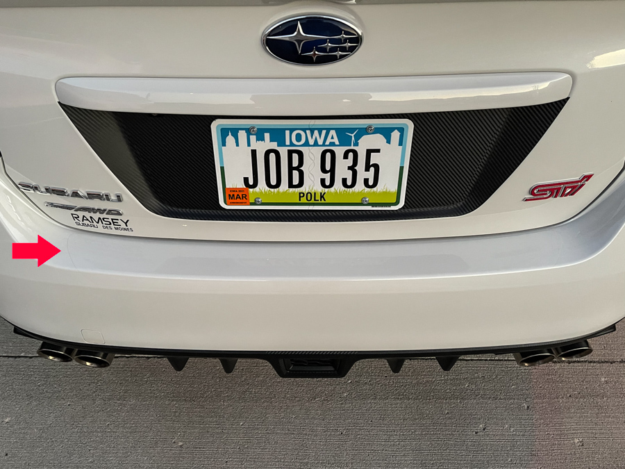 Sticker Fab Clear Rock Guard Rear Bumper Protector