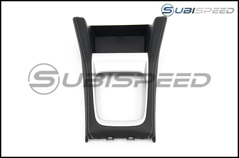 Subaru OEM JDM S4 tS Shifter Console with Silver Stitching