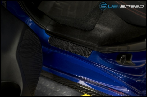 JDM Station WRX Etched ScuffGuard Door Sills (Front and Rear) - 2015+ WRX / 2015+ STI