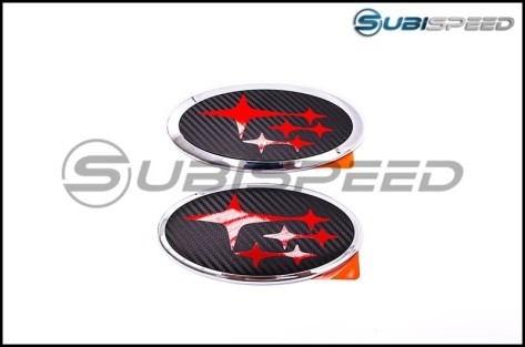 Sticker Fab Front and Rear 3D Carbon Emblem Overlay - 2017-2018 Forester