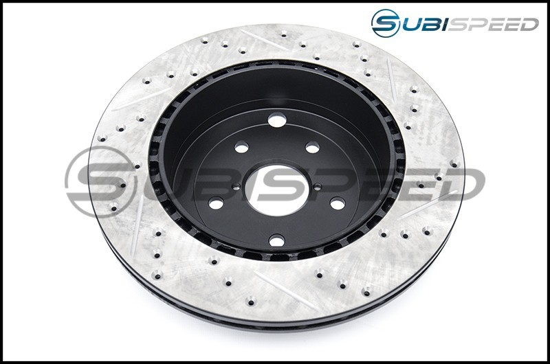 StopTech Drilled and Slotted Sport Rotors (Rear) - 2015-2017 STI