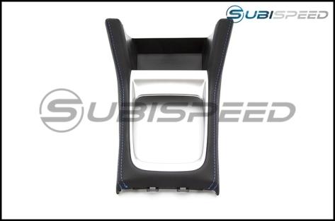 Subaru OEM JDM Shifter Console with Blue Stitching - 2015+ WRX