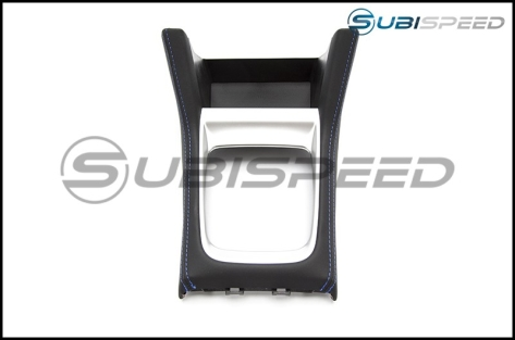 Subaru OEM JDM Shifter Console with Blue Stitching